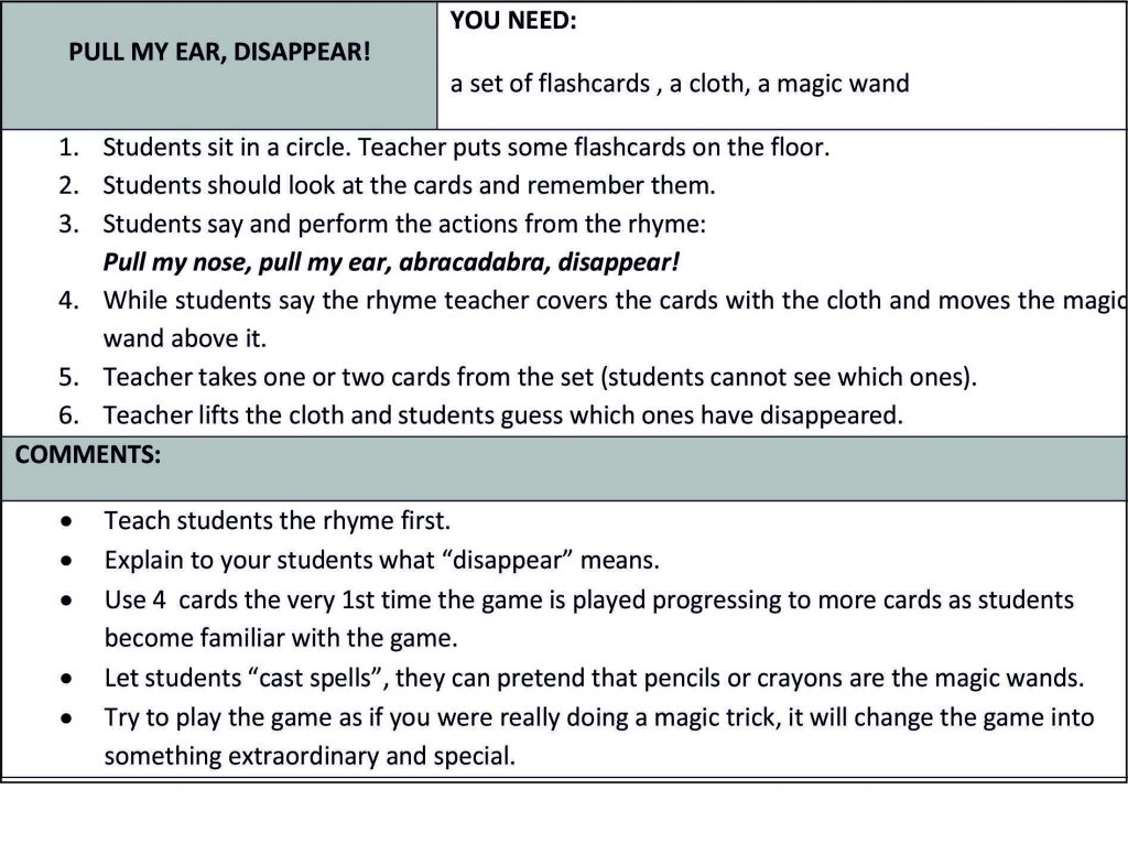 magic game for magic article